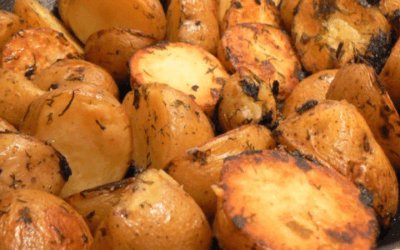 Roast Potatoes with Dill and Green Onions
