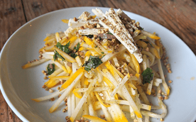 Nutty Summer Squash Buckwheat Salad