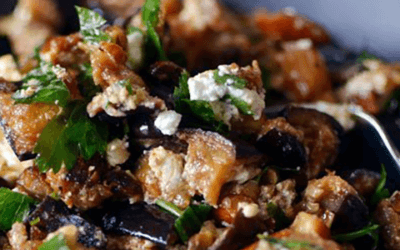 Garden Fresh Grilled Eggplant Salad